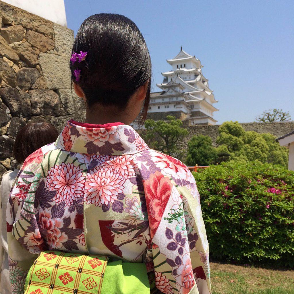 姫路きもの祭り(姫路城入城無料)